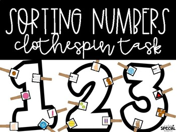 Sorting Numbers 1-10 Clothespin Tasks