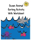 Sorting Ocean Animals Activity With 2 Follow Up Worksheets