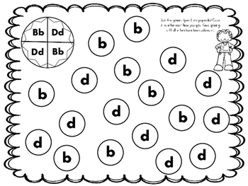 Alphabet! Sorting Out Those b's and d's. (9 Activities for b/d  Reversals)