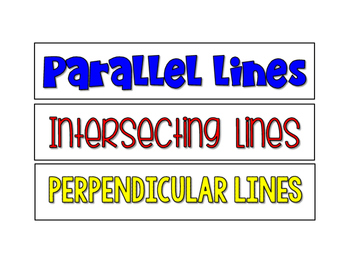Sorting Parallel, Intersecting, and Perpendicular Lines CC ALIGNED 4.G.A.1