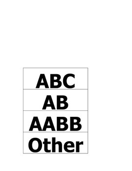 Sorting Patterns AB, AABB, ABC and other