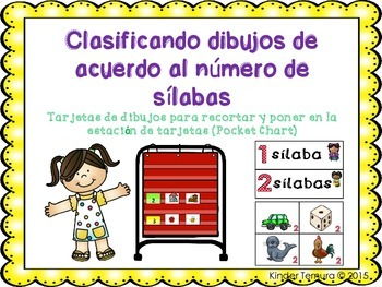 Sorting Pictures According to the Number of Syllables (Spanish)