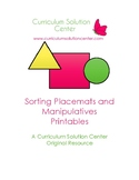 Sorting Placemats and Manipulatives Printables  {Shapes, Colors, Sizes, FREE}