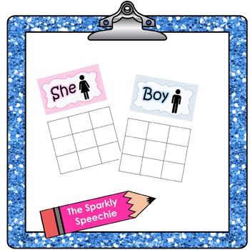 Sorting Pronouns: He/She & Boy/Girl