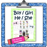 Sorting Pronouns: He/She & Boy/Girl
