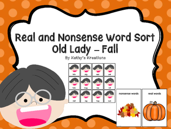 Sorting Real And Nonsense Words -Old Lady Fall