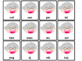 Sorting Real And Nonsense Words -Old Lady Summer