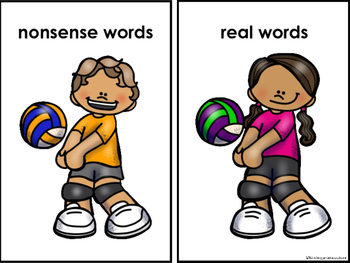 Sorting Real and Nonsense Words -Volleyball