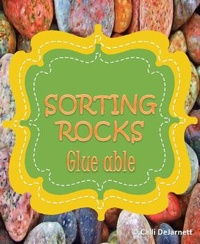 Sorting Rocks Glue able