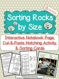 Sorting Rocks by Size Interactive Notebook Page and Activity