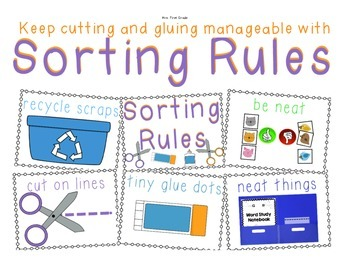 """Manage Cutting and Gluing with """"Sorting Rules"""" posters"""