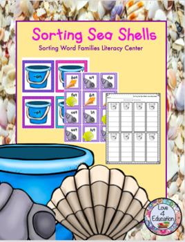 Sorting Seashells Summer Literacy Center