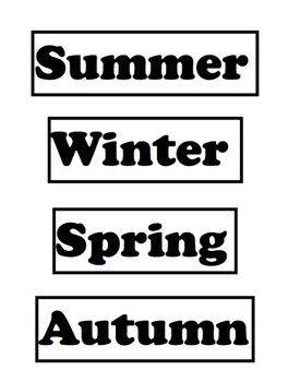 Sorting Seasons: A Ready to Use Learning Activity