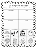 Sorting Seasons/Trier les saisons (FRENCH)