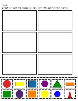 Sorting Shapes By Color