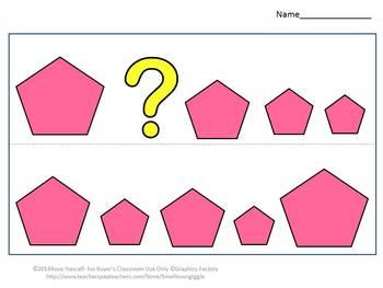sorting by size shapes cut and paste kindergarten math worksheets morning work. Black Bedroom Furniture Sets. Home Design Ideas