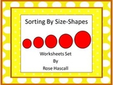 Sorting By Size-Shapes Cut and Paste Kindergarten Math Wor