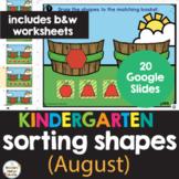 Sorting Shapes Kindergarten Math Worksheets & Google Slides Blended Learning