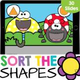Sorting Shapes: Spring Friends Kindergarten Math Google Sl