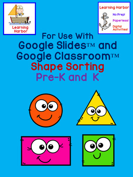 Sorting Shapes With Movable Pieces for use with Google Classroom™