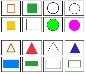Sorting Shapes and Counting Math Task Box or Center