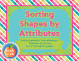Sorting Shapes by Attributes
