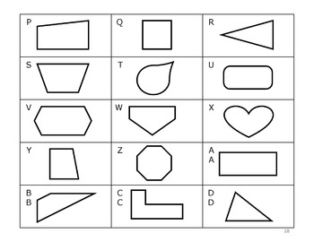 sorting shapes by attributes by teach peach math tpt. Black Bedroom Furniture Sets. Home Design Ideas