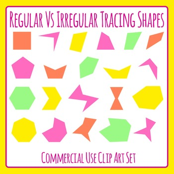 Sorting Shapes by Color / Irregular vs regular / Number of Sides or Verticies