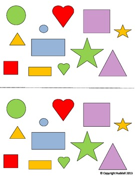 Sorting Shapes by Shape, Color, and Size
