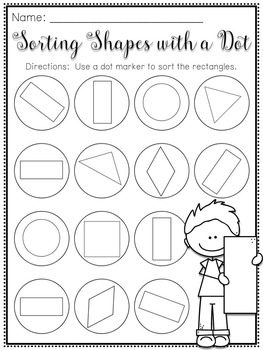 Sorting Shapes with a Dot