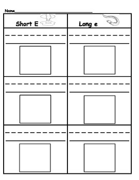 Sorting: Short & Long Vowels (A,E,I,O,U)