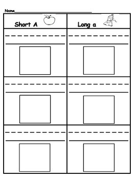 Sorting: Short & Long Vowels (A,E,I,O,U)
