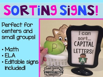 Sorting Signs!- Small Group Activities
