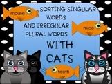 Sorting Singular Nouns and Irregular Plural Nouns with Cats