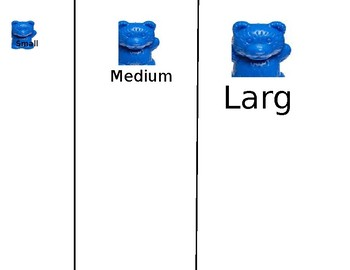 Sorting/ Sizes  - Small, Medium, Large - bears - counting