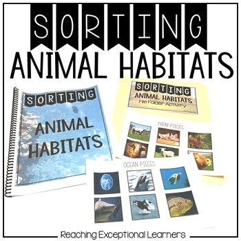SPED Sorting Animal Habitats
