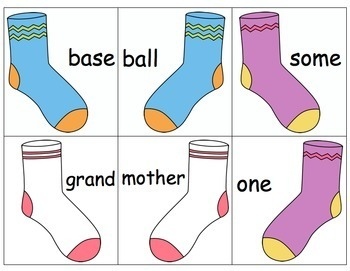 Compound Words - Sorting Socks!