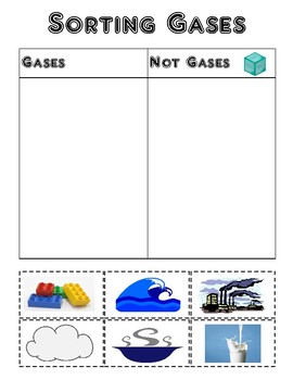 Sorting Solids, Liquids, and Gases