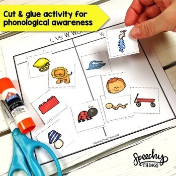 Sorting Speech & Phonology- Speech Therapy Activities for Phonological Awareness