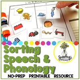 Sorting Speech & Phonology- Speech Therapy Activities for