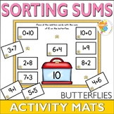 Sorting Sums 1-10 Butterfly Activity Mats