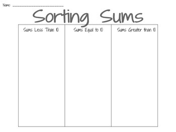 Sorting Sums