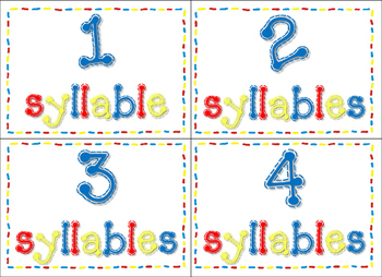 Sorting Syllables mini set
