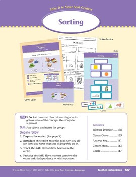 Sorting (Take It to Your Seat Centers: Common Core Language)