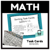 Sorting Task Cards: Addition (1-5)
