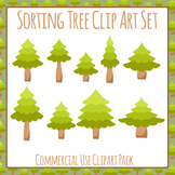 Sorting Trees Clip Art Set for Commercial Use