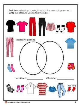 Sorting Unit: Sort objects using attributes into groups and Venn diagrams