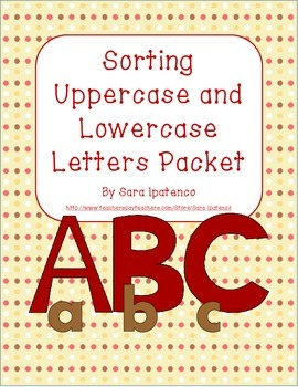 Sorting Uppercase and Lowercase Letters Packet