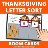 Sorting Uppercase and Lowercase: Thanksgiving BOOM Cards (