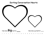 Sorting Valentine Hearts - Big and Small